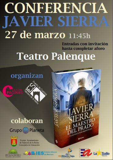 Conferencia en Talavera de Javier Sierra, prestigioso escritor que consiguió el Premio Planeta 2017