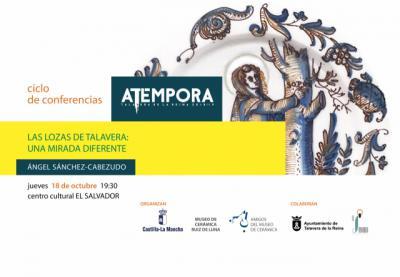 'Las lozas de Talavera: un mirada diferente', la primera conferencia de 'aTempora', este jueves