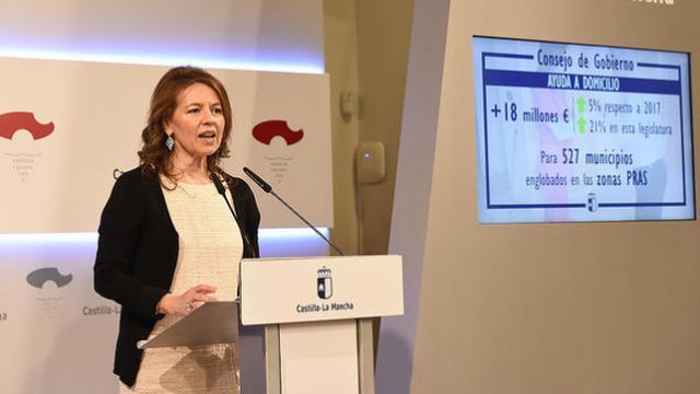 El Gobierno de CLM autoriza más de 18 millones de euros para Ayuda a Domicilio