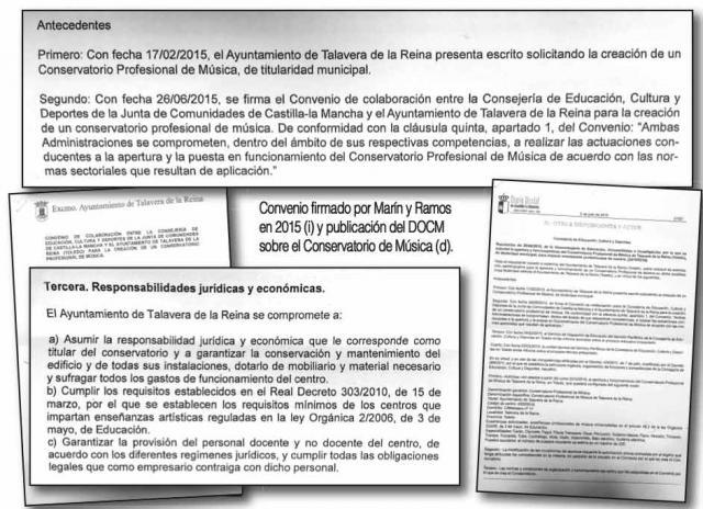 Ramos firmó con la Junta en 2015 asumir la gestión económica del Conservatorio de Música