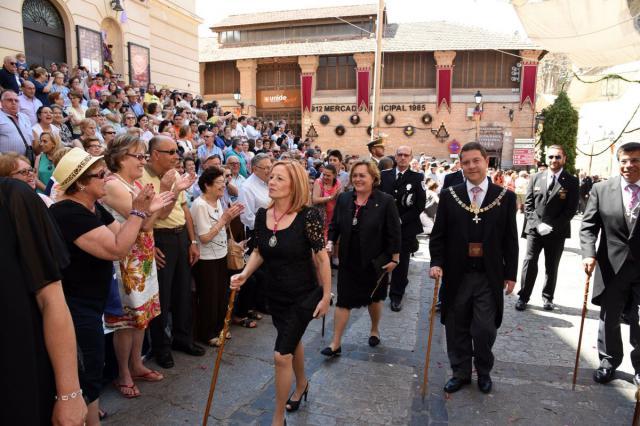 Page desfilará en la procesión del Corpus y Cospedal la verá desde la Delegación