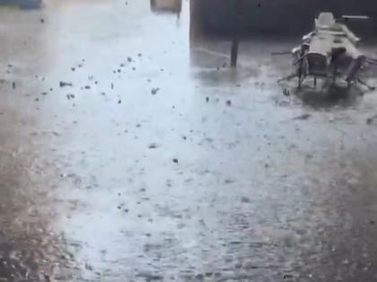 La zona de la Corredera inundada (Talavera)