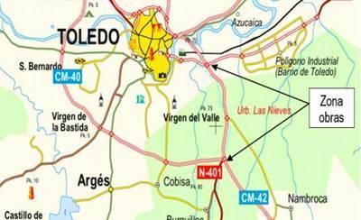 Cortes de tráfico por la noche en la A-42 sentido Madrid