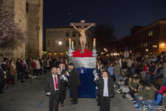 El 'Cristo del Mar' protagonista del Lunes Santo en Talavera (VÍDEO)