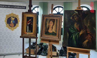 CULTURA | Intervienen obras falsas de El Greco y Goya de un coleccionista toledano que iban a venderse en el mercado negro