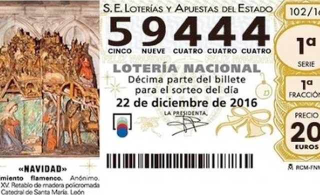 El 59.444, agraciado con el primer cuarto premio, vendido en Toledo