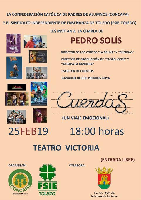 El ganador de dos premios Goya, Pedro Solís, impartirá una charla en Talavera