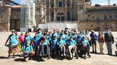 FOTOS | Un reto y un sueño, hacer el Camino con ELA