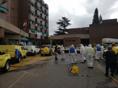 TALAVERA | Amplio despliegue de GEACAM en la Residencia Nuestra Señora del Prado (fotos)