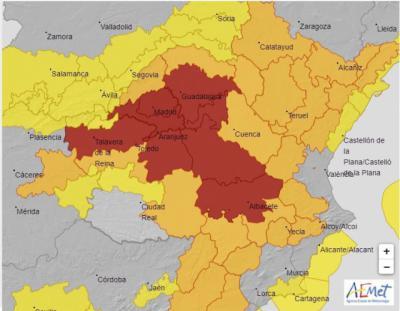 BORRASCA | Filomena pone el alerta roja por nieve a la provincia de Toledo