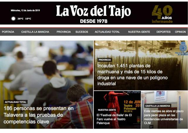 La Voz del Tajo, líder de los periódicos digitales en Talavera y comarca