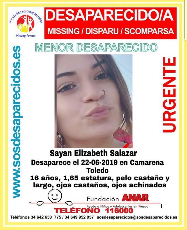 Buscan a una menor de 16 años desaparecida en Camarena desde hace 18 días