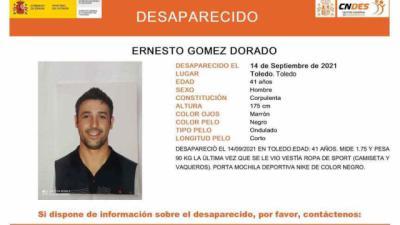 Buscan a Ernesto Gómez Dorado, un hombre de 41 años