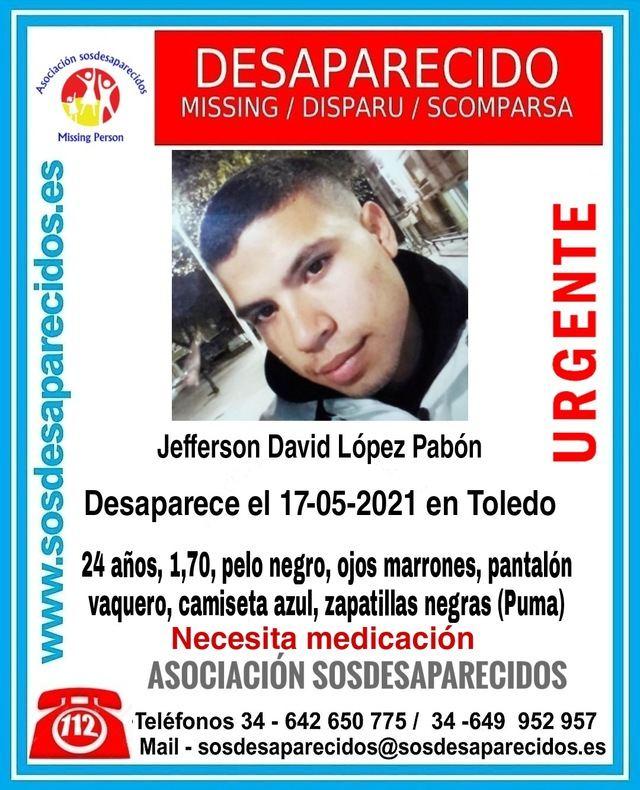 Buscan a Jefferson David López, joven de 24 años