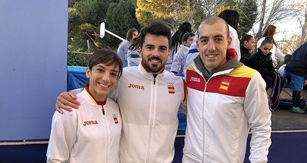 Los olímpicos, Alarza, Cubelos y Sánchez, serán 'eternos' en Talavera