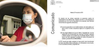 DGT | Se desmiente la posible multa por el uso indebido de la mascarilla en el coche
