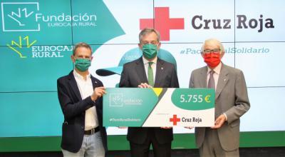 EUROCAJA RURAL   La campaña 'Pack Rural Solidario' recauda más de 5.700 euros para Cruz Roja