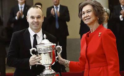 Andrés Iniesta recibe el Premio Nacional del Deporte