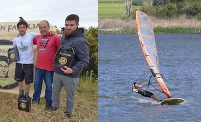 Alfonso Tertre, campeón en la 'Regata del Queso' de Windsurf