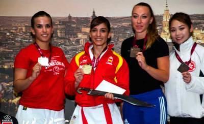 La talaverana Sandra Sánchez se cuelga la medalla de oro en Toledo