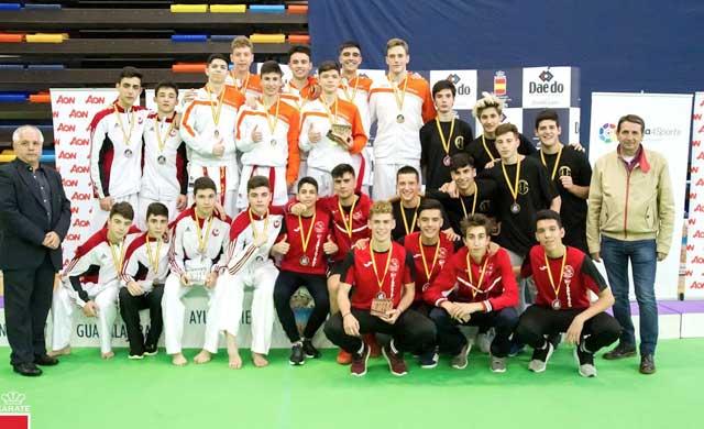 El Karate Club Kyoto logra dos bronces en el Nacional de Clubes