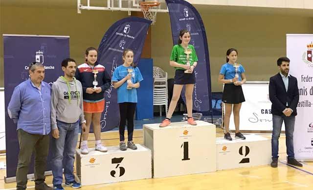 La torrijeña Daniela Ramos, Campeona Regional de Tenis de Mesa