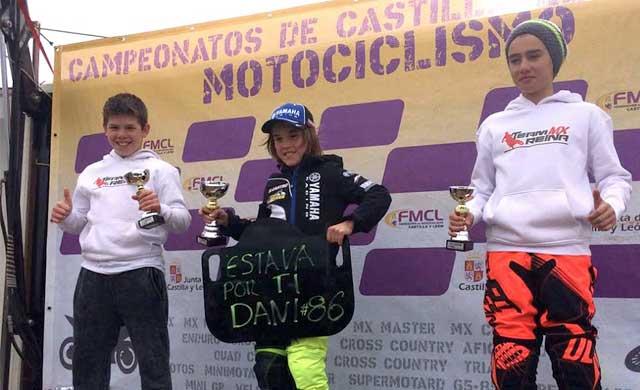 Los pilotos del TeaMX Reina, pódium en Castilla y León