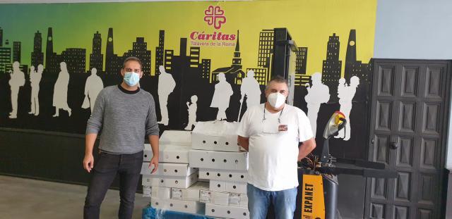 SOLIDARIDAD | Cárnicas Dibe dona 247 kilos de alimentos a Cruz Roja Talavera