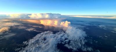 IMAGEN | El espectacular atardecer de Talavera desde las alturas