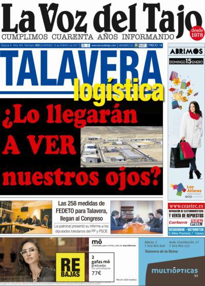 Portada enero   Talavera logística ¿Lo lllegarán a ver nuestros ojos?