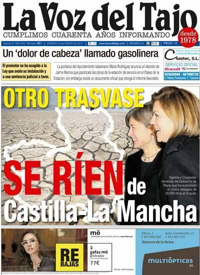 Portada enero | Otro trasvase: 'Se ríen de Castilla-La Mancha'
