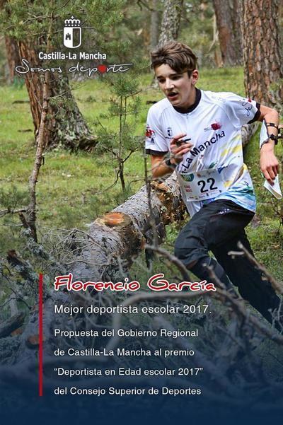 Florencio García Gómez será abanderado de la región en los premios 'Deportista en Edad Escolar 2017'