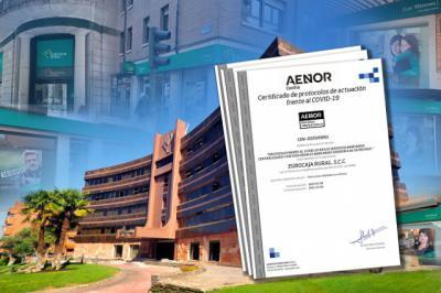 ACTUALIDAD | Eurocaja Rural obtiene el certificado de Calidad AENOR por si gestión frentre al Covid-19