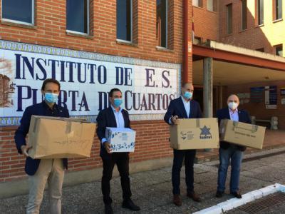 """TALAVERA   """"Máxima seguridad"""" en IES Puerta de Cuartos, sede de las pruebas de la EvAU"""