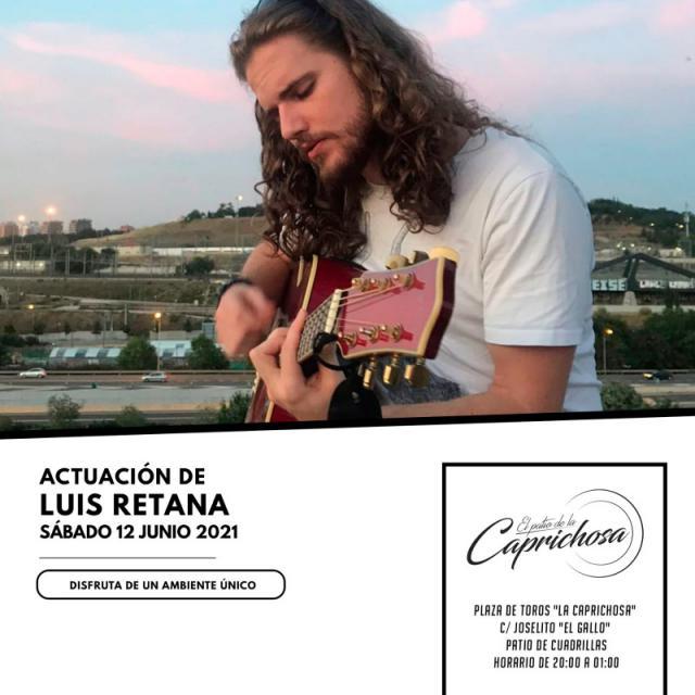 Últimas reservas para el concierto de Luis Retana