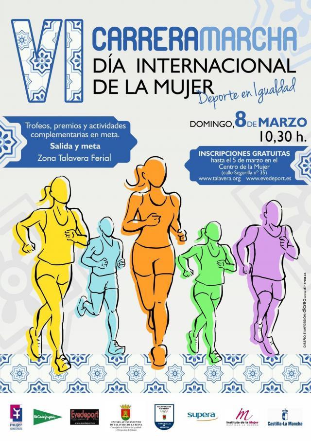 Cortes de tráfico en Talavera por la Carrera-Marcha con motivo del Día Internacional de la Mujer