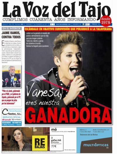 Portada febrero   LeKlein no tuvo cerca estar en Eurovisión -y Ramos...'contra todos'-