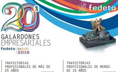 La XX Galardones Empresariales Fedeto, mañana en Toledo