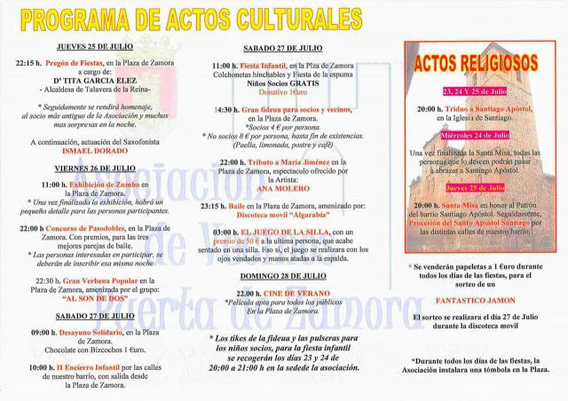 Procesión, encierro infantil, música y cine, en las fiestas del barrio Puerta de Zamora