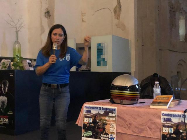 La edil Montse Muro, en la conferencia de Alicia Somosa