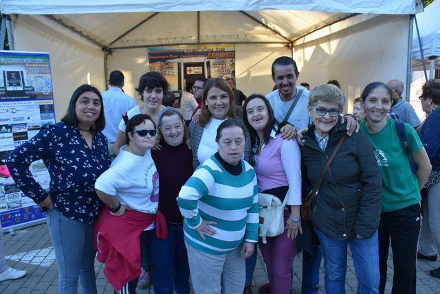 La alcaldesa Tita, con los camioneros de Talavera