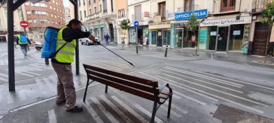 COVID-19 | Siguen desinfectando en barrios de Talavera