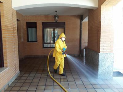 COVID-19   Sigue la desinfección en Talavera