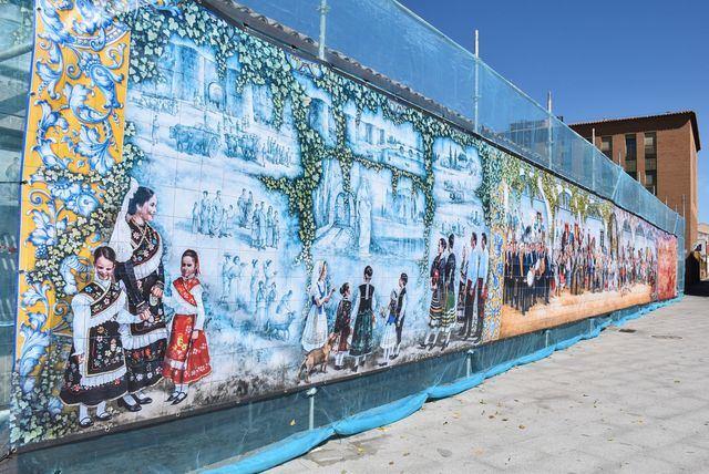 TALAVERA | El mural de la calle San Clemente se cubre con carácter preventivo