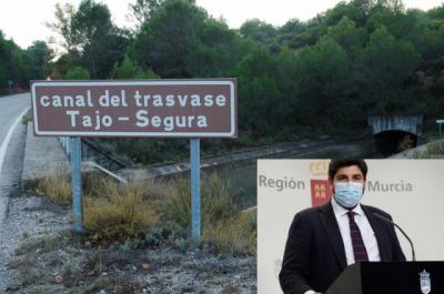 """El presidente de Murcia pone fecha a la """"muerte"""" del trasvase Tajo-Segura"""