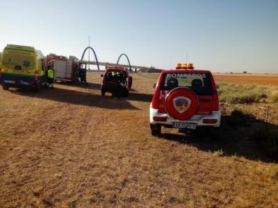 Una persona fallecida y cuatro heridas tras el vuelco de un vehículo en La Roda
