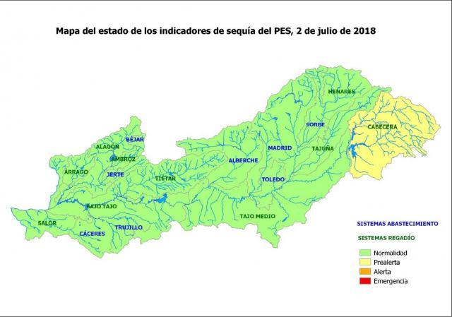 La cabecera del Tajo continúa en prealerta por sequía