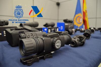 Cae una red de contrabando de visores para armas de fuego en Talavera, Albacete y Badajoz
