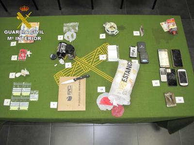 La Guardia Civil de Cuenca detiene a dos hombres por tráfico de drogas