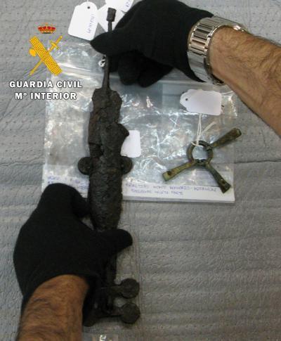 Cuatro detenidos en Toledo y Burgos tras recupera 92 piezas celtibéricas de gran valor histórico